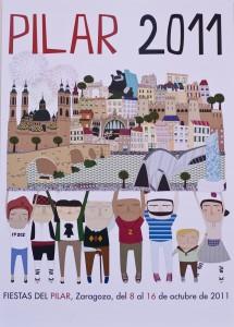 El cartel de las Fiestas Del Pilar 2011 en Zaragoza
