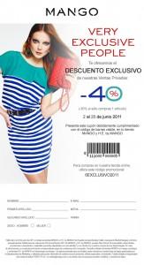 Cupón de descuento de 40% en Mango en su tienda Online