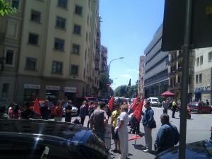 Manifestación en el Hospital Clinic en Barcelona