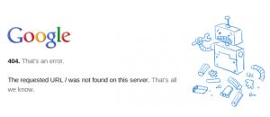Error 404 de Google