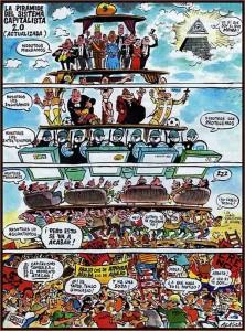 La pirámide social del capitalismo actual