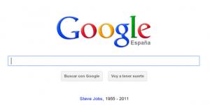 Google da un homenaje en su doogle a Steve Jobs