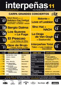 Conciertos en Interpeñas y más para las Fiestas del Pilar 2011 en Zaragoza
