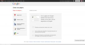 Crear una página en Google + plus