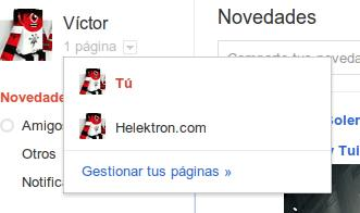 Editar páginas en Google + plus