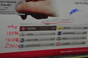 precios del metro