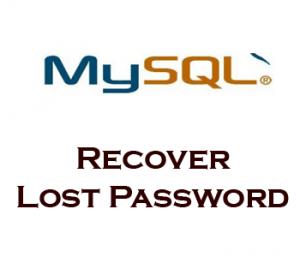 Restablecer usuario root y contraseña en Mysql