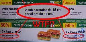 Ofertas y descuentos en SubWay