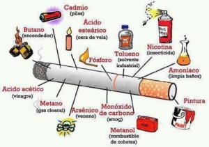 Los componentes reales de un cigarro de tabaco