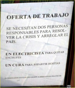 Ofertas de trabajo para arreglar la crisis