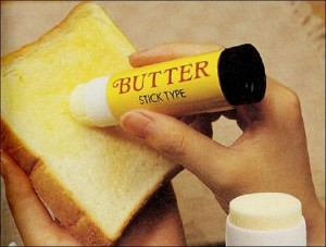 mantequilla en barra de pegamento
