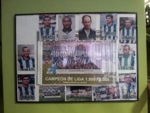 Fotografía de la plantilla del Deportivo de la Coruña firmada