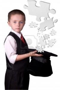 Un niño le pilló el truco al mago