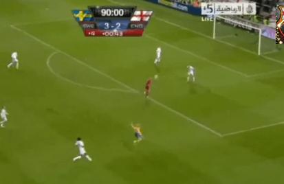 Vídeo con los goles del Suecia 4 Inglaterra 2