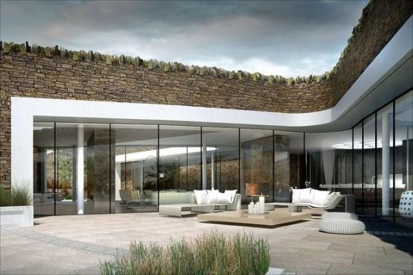 Eco Casa de última tecnología y la parte exterior