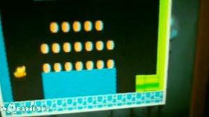 Un gato asustado por los sonidos del videojuego Mario Bros