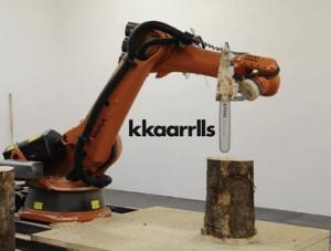 El robot sierra que hace taburetes