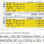Firmar para pedir la dimisión de la cúpula del PP #lospapelesdeBárcenas