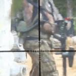 Francotirador jugando al Paintball