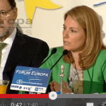 Arantza Quiroga delante de Rajoy Los militantes del PP están asqueados