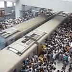 El metro de Beijing en hora punta