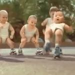 Bebés en patines