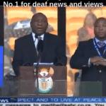 Falso interprete de sordos en el funeral de Nelson Mandela
