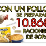 Pollos para hacer sobres de sopa