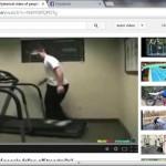 Vídeos de personas sufren caídas en la caminadora