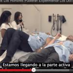 Hombres experimentando un parto