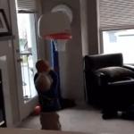 Un jugador estrella de baloncesto, que causa admiración