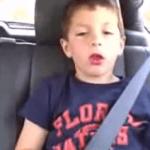 Reacción de un niño después de ir al dentista