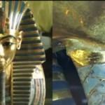 Barba de Tutankamón restaurada con pegamento